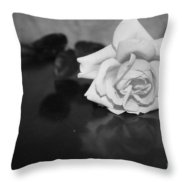 Rose Reflection Throw Pillow