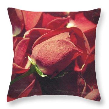 Rose Throw Pillow by Taylan Apukovska