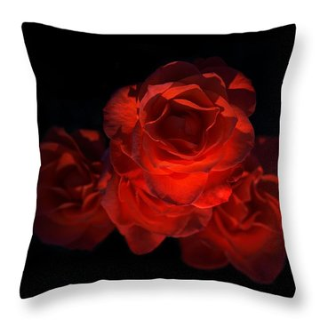Throw Pillow featuring the photograph Rose Three by David Andersen