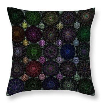 Rose Window Kaleidoscope Quilt Throw Pillow