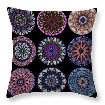 Rose Window Quilt 1 Throw Pillow