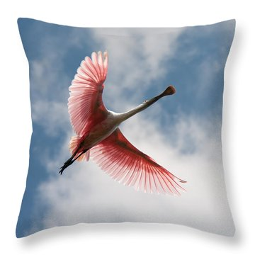 Roseate Soaring Throw Pillow