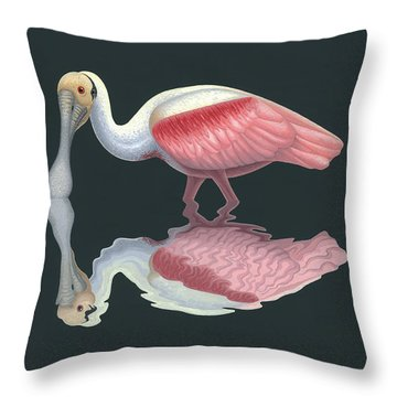 Spoonbill Throw Pillows