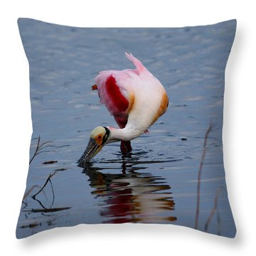 Roseate Spoonbill Twist Throw Pillow