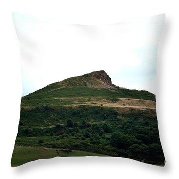 Roseberry Topping Hill Throw Pillow by Scott Lyons