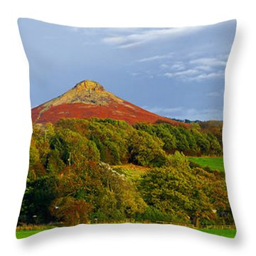 Roseberry Topping Yorkshire Moors Throw Pillow