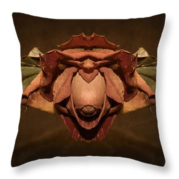 Throw Pillow featuring the photograph Rosebird by WB Johnston