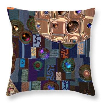 Rosegold River Throw Pillow