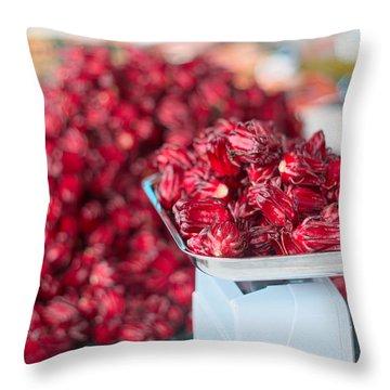 Roselle Fruit Throw Pillow