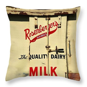 Rosenberger's - Dairy Milk  Throw Pillow