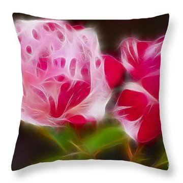 Roses 6221-fractal Throw Pillow by Gary Gingrich Galleries
