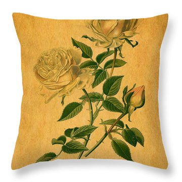 Roses Are Golden Throw Pillow by Sarah Vernon