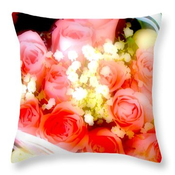 Throw Pillow featuring the photograph Roses Are Red. by Ira Shander