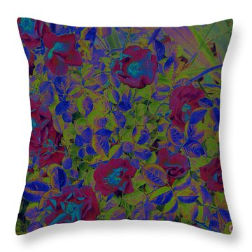Throw Pillow featuring the photograph Roses By Jrr by First Star Art