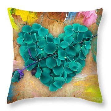 Roses Collection Throw Pillow by Marvin Blaine