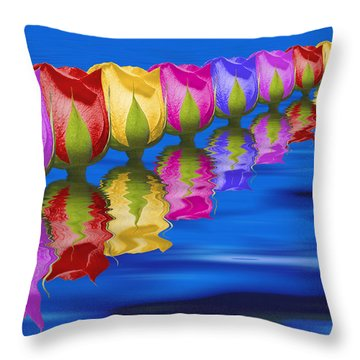 Roses Floating Throw Pillow