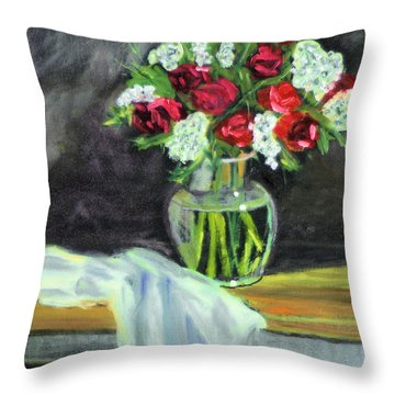 Roses For Mother's Day Throw Pillow