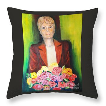 Roses For The Lady Throw Pillow