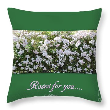 Roses For You Throw Pillow