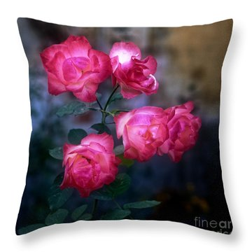 Roses II Throw Pillow by Silvia Ganora