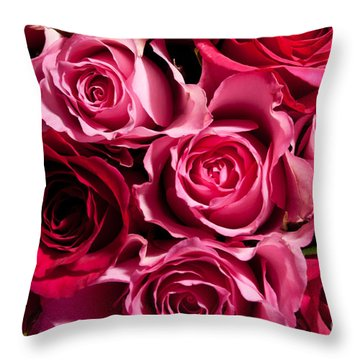 Throw Pillow featuring the photograph Roses by Matt Malloy