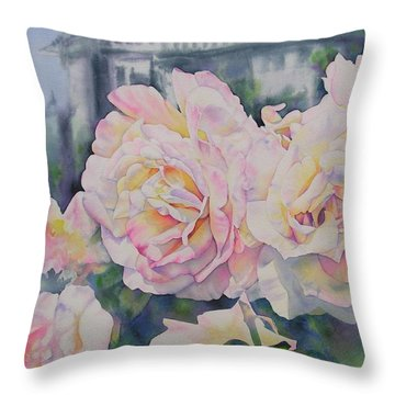Roses Of Notre Dame Two Throw Pillow