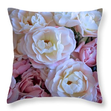 Roses On The Veranda Throw Pillow by Carol Groenen