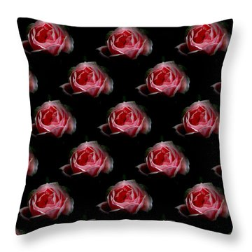 Throw Pillow featuring the photograph Roses Pillow By Barbara Moignard by Artists for Altered Cats Cyprus