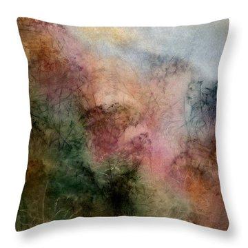 Rose's Pink Garden Throw Pillow