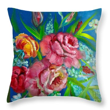 Roses Roses Jenny Lee Discount Throw Pillow