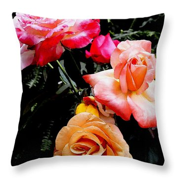 Throw Pillow featuring the photograph Roses Roses Roses by James C Thomas