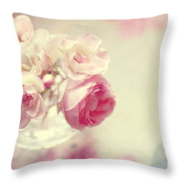 Roses Throw Pillow by Sylvia Cook