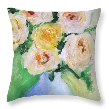 Roses Throw Pillow by Venus