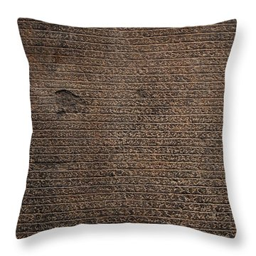 Rosetta Stone Texture Throw Pillow by Gina Dsgn