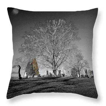 Roseville Cemetary Throw Pillow