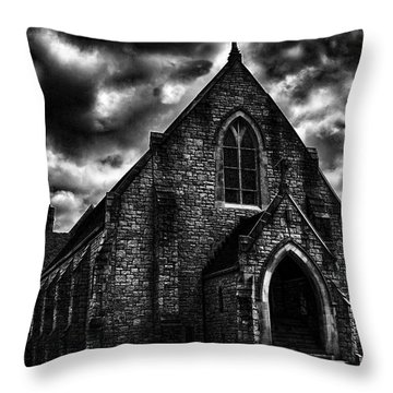 Roseville Church Throw Pillow