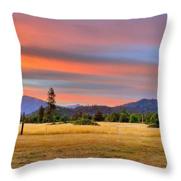 Rosey Dawn Throw Pillow