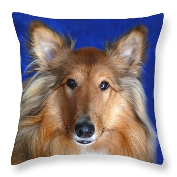 Throw Pillow featuring the photograph Rosie by Evelyn Tambour