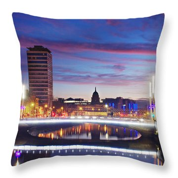 Rosie Hackett Bridge - Dublin Throw Pillow