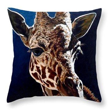 Rosie Throw Pillow by Linda Becker