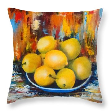 Rosie's Harvest Throw Pillow