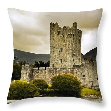 Throw Pillow featuring the photograph Ross Castle Killarney by Jane McIlroy