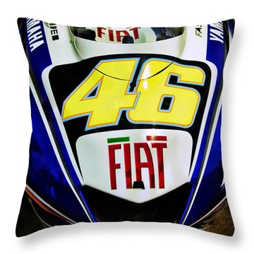 Rossi Yamaha Throw Pillow