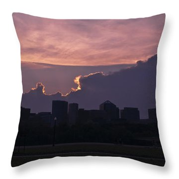 Rosslyn Skyline Throw Pillow