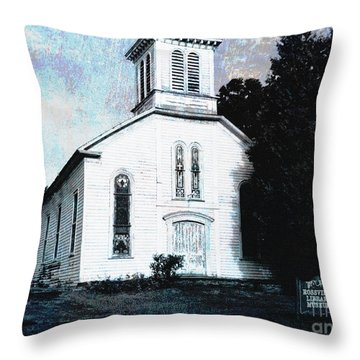 Rossville Church And Cemetery Throw Pillow