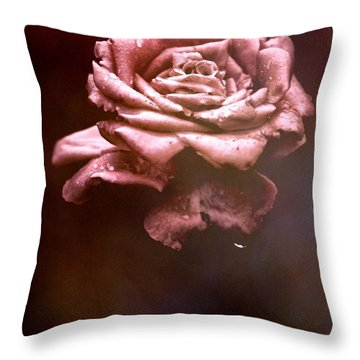 Rosy Fog Throw Pillow
