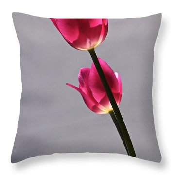 Rosy Loveliness For A Gray Day Throw Pillow by Byron Varvarigos