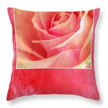 Rosy Throw Pillow by Randi Grace Nilsberg