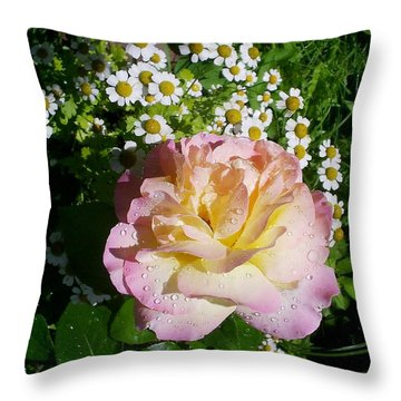 Rosy Shades II Throw Pillow