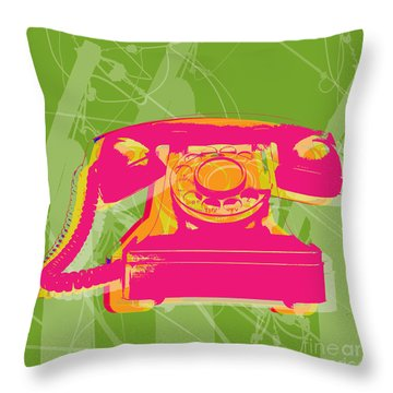 Rotary Phone Throw Pillow